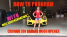 Porsche Cayman Garage Door Programming_1