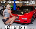 Honey I only go on ShockerRacing for the Articles Meme_1