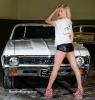 Karisha with a Chevy Nova for ShockerRacingGirls_3