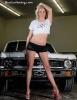 Karisha with a Chevy Nova for ShockerRacingGirls_7