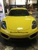 Porsche Cayman 981 Hood Crest Removal
