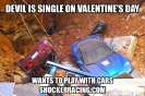 Devil is single on valentines day wants to play with cars_1