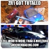 Totaled zr1 in sinkhole still worth more than a Mustang_1