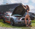 Bex Russ with John Foresters Mustang at American Muscle 2017_2