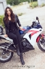Bex Russ with her Honda CBR - Photos by Mathew Blasi_1