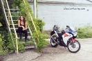 Bex Russ with her Honda CBR - Photos by Mathew Blasi_2