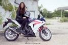 Bex Russ with her Honda CBR - Photos by Mathew Blasi_3