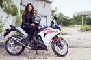 Bex Russ with her Honda CBR - Photos by Mathew Blasi_4