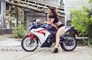 Bex Russ with her Honda CBR - Photos by Mathew Blasi_7