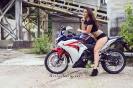 Bex Russ with her Honda CBR - Photos by Mathew Blasi_8