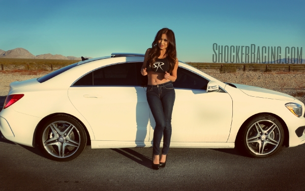 Christy Rios for ShockerRacingGirls with her 2015 Mercedes Benz CLA250
