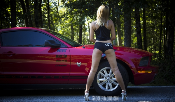 Kassie Harner with a Mustang - Photo by Joshua Bates Photography