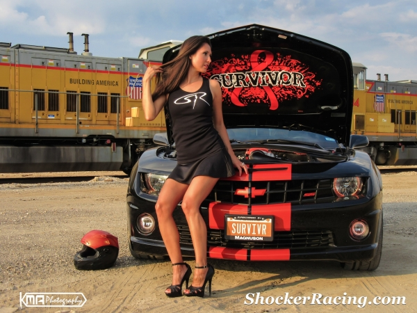 Kristen Benavides with her Magnuson Supercharged Camaro SS