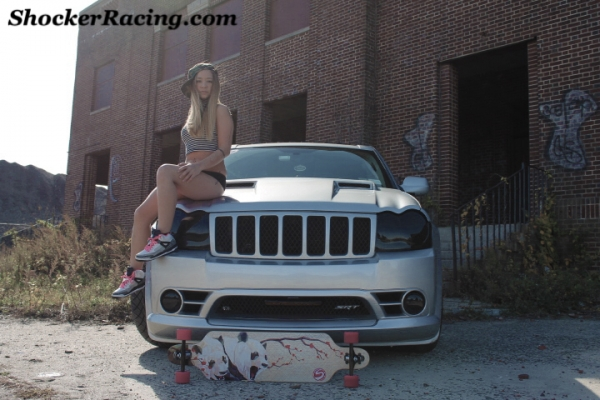 Natasha Tyrrell with her 2006 Jeep SRT8 Grand Cherokee Photos by Alyssa McGrath