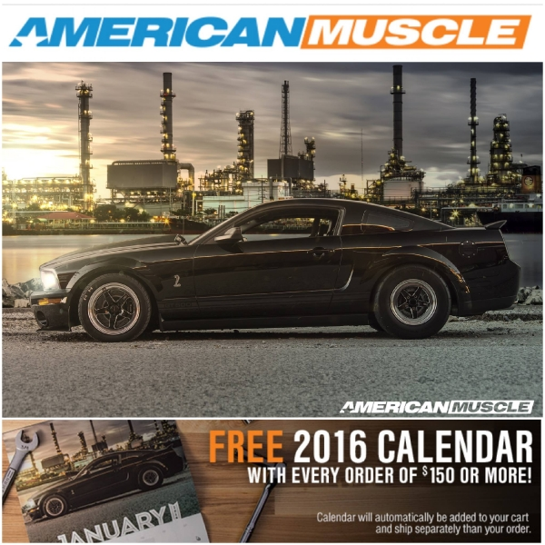 JD Joyride TV's Shelby Mustang in the American Muscle 2016 Calendar