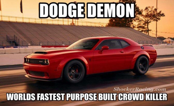 Dodge Demon Unveiling Crowd Killer Meme