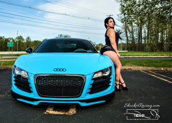 Alex Stone with an Audi R8 for ShockerRacingGirls