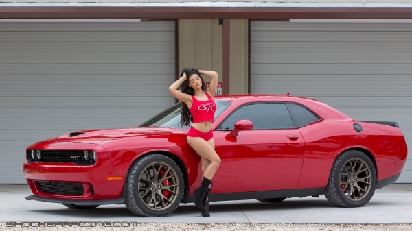 Ruh'Han Vargas for ShockerRacing Girls with a pair of Hellcats