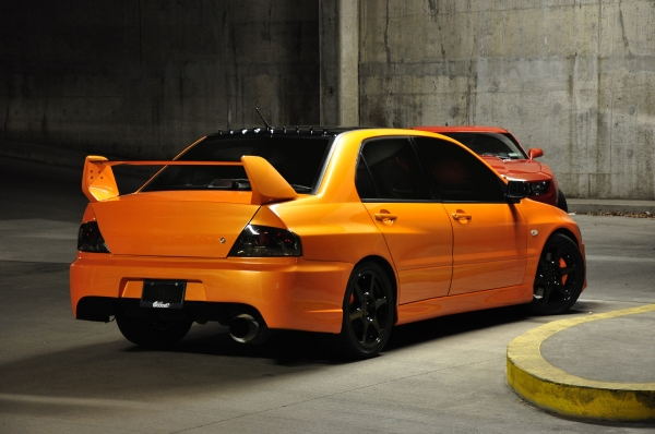 Matts Lambo Orange Evo VIII