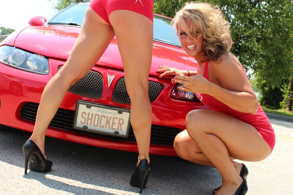 Pontiac GTO 383 Stroker with LFL Chicago Bliss Players Kim and Deena