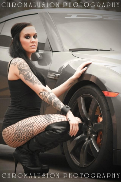 Chromalusion Photography shoot with Kelly Heeth and Josh's GTR