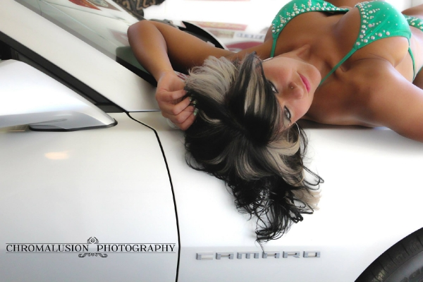Chromalusion Photography Shoot featuring Mandy for ShockerRacingGirls