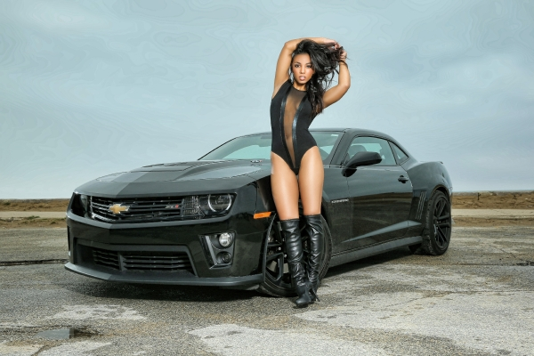 Darrian Arch and her 2013 ZL1 Camaro with photography by Goyk Photo