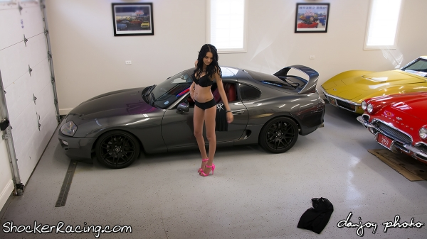 Angela Angelovska with Turks Audi R8 and Mooks Toyota Supra_20