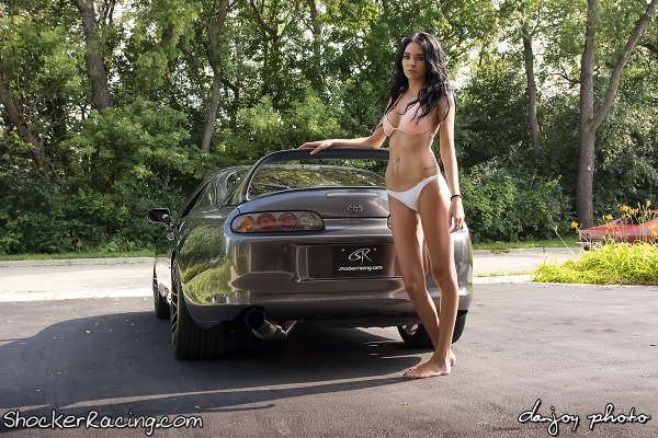 Angela Angelovska with Turks Audi R8 and Mooks Toyota Supra_42