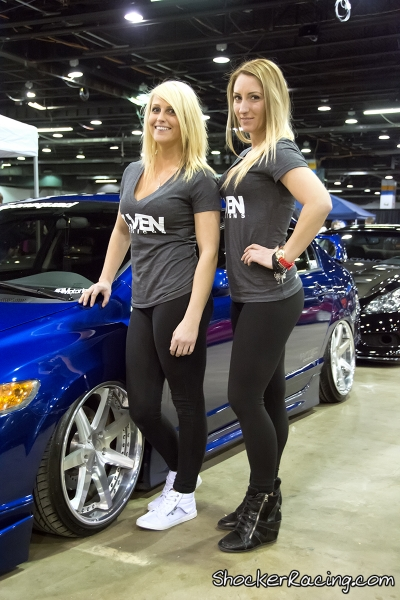 Wercia at the 7Ven Designs booth at Tuner Galleria 2015