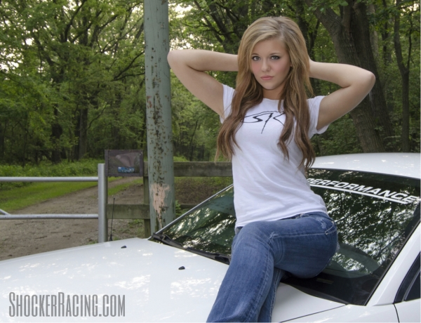 Katie Mizera with her 2006 Ford Mustang GT