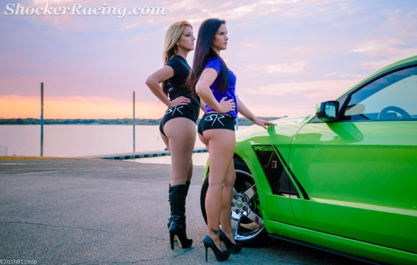 Shelby Wolf with Twyla Dellinger and a GHIG Mustang