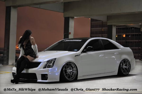 Ashley Cunningham with a CTS-V photos by @MohamVisuals