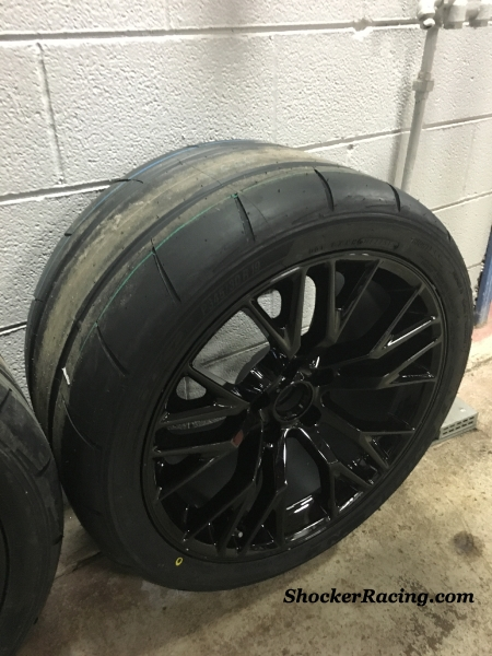 "19"" C7 Z06 Wheels with 345/30/19 Nitto NT05R Drag Radials"