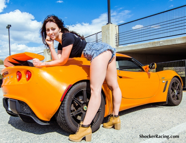 Bex Russ for ShockerRacingGirls with a Lotus