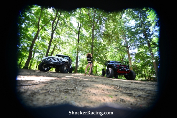 Bex Russ for ShockerRacingGirls with a pair of Jeeps