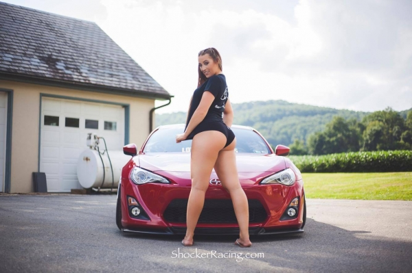 Sammy Marie aka ThatBoostedChick for ShockerRacingGirls with her Scion FRS_2