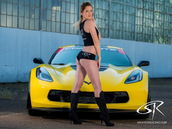 Karisha with a C7 Z06 by Chris Auditore Photography