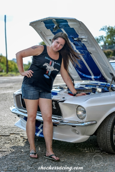 Tiffany Dockery with her 1968 Shelby Mustang