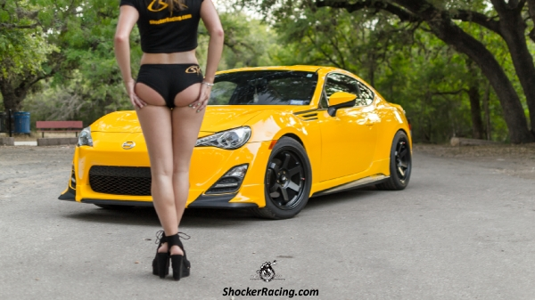Samantha Lewis with her Scion FR-S for ShockerRacingGirls