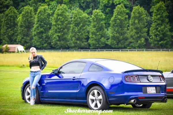 Samantha Potter with her Shelby GT500