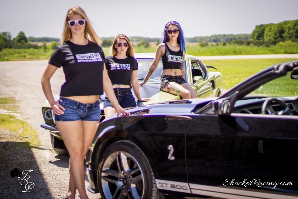Nicole, Brandi Chojnacki, and Shauna Zielaskowski for ShockerRacingGirls