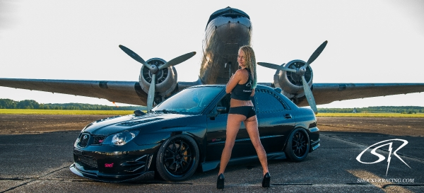 Katie Blaze with Dillon Rath's Subaru STI - Photos by Christ Auditore