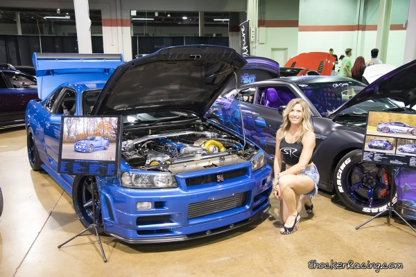 MrsShockerRacing with a pair of GTR's at Tuner Evo Chicago 2017