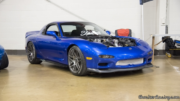 Bill Allred's Mazda RX-7 at Tuner Evo Chicago 2017