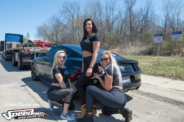 Adriannka, Lex, and Alice for ShockerRacing Girls at Speed Inc Open House 2018