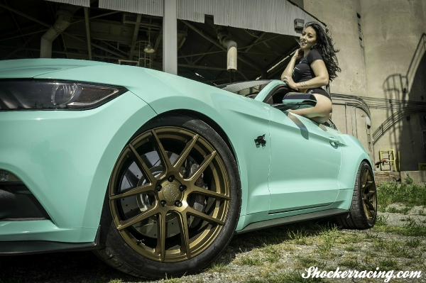Bex Russ with Walter's S550 Mustang for ShockerRacing